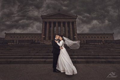 Philly Art Museum Wedding Picture