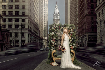 Events by Rainstein Design Bridal portrait Broad St. Phl