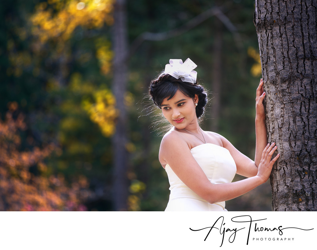 Outdoor Bridal Portraits Near Vancouver