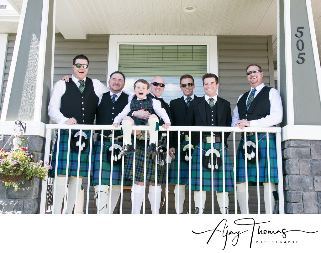 Groom and Groomsmen with Ring Bearer