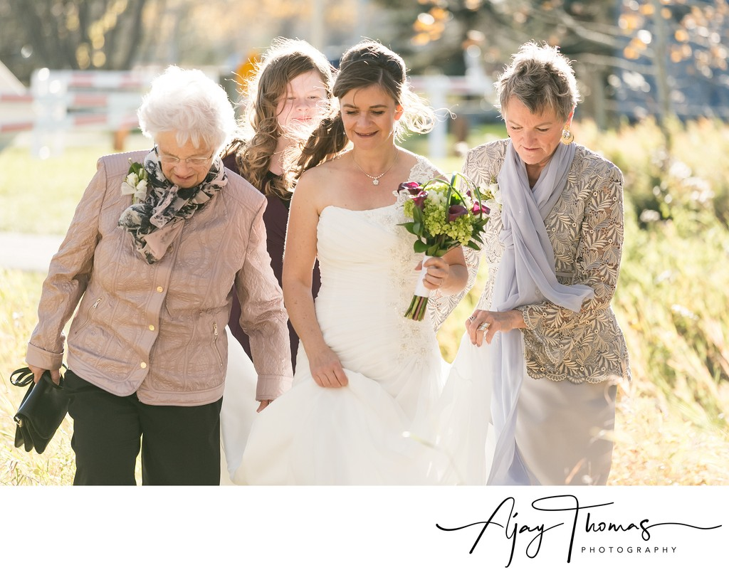 Bride and Family in Squamish BC