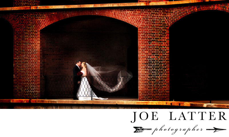Amazing wedding photographs at Fort Point in San Francisco California