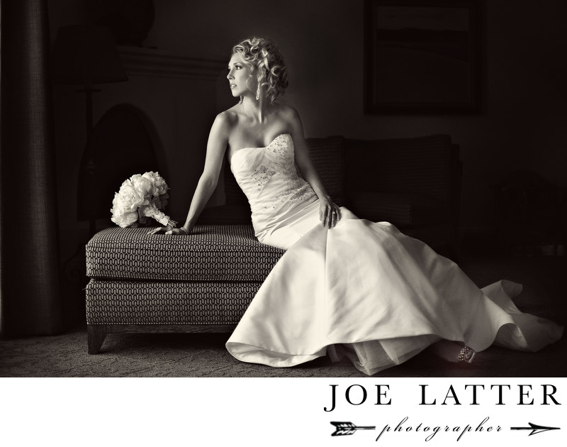 Best Bridal Portrait Photograph on a Wedding Day at Ojai Valley Inn & Spa