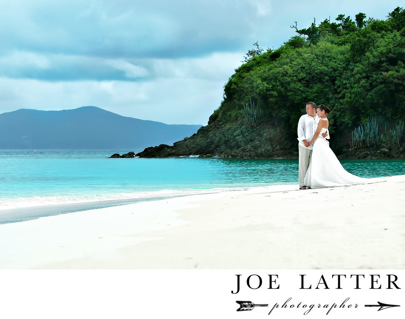 Destination Wedding Photography Hawksnest Beach in St. John