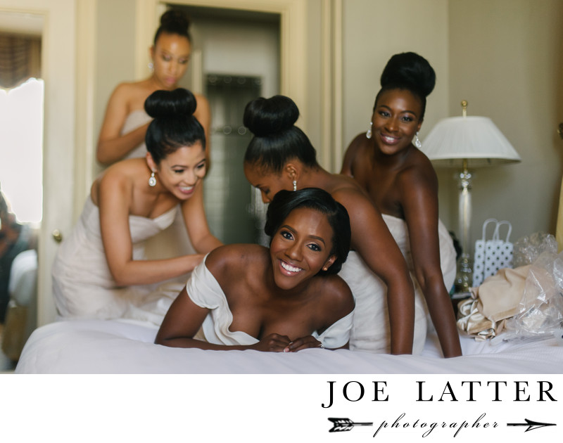 Best Wedding Phot of African American Bridal Party