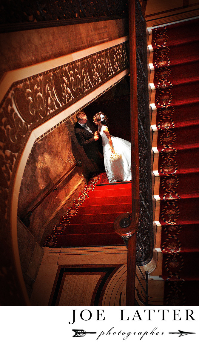 Best photographer for weddings at Drake Hotel in San Francisco, California