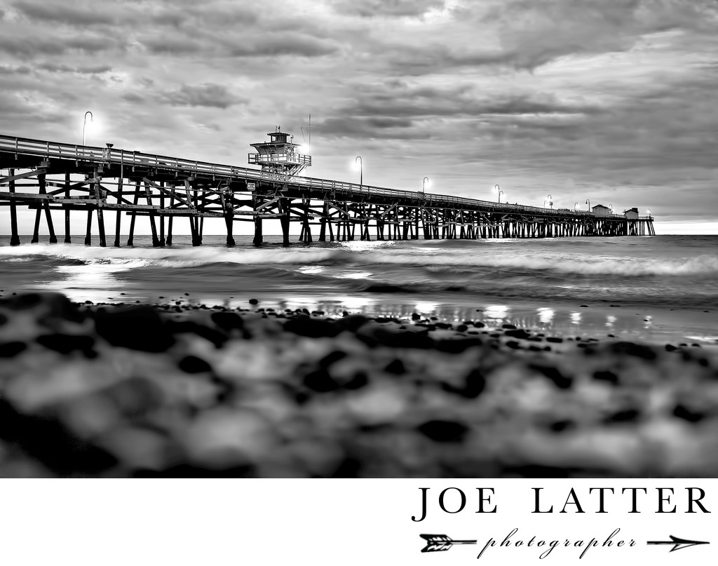 Fine Art Black And White Photography of San Clemente Pier