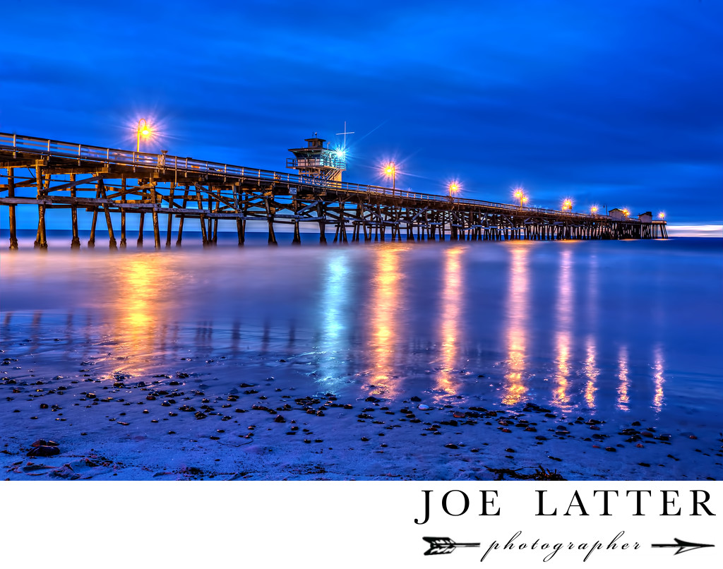 Fine Art Twilight Photograph of San Clemente Pier