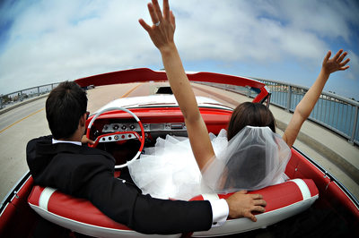 Best Wedding Photographer Long Beach Convertable Car