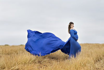 Blue Dress Maternity session