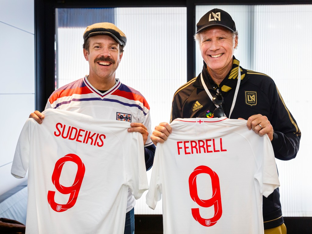 Jason Sudeikis and Will Ferrell Club Wembley Number Nine