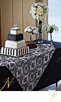 wedding cake at Shamrock Community Center