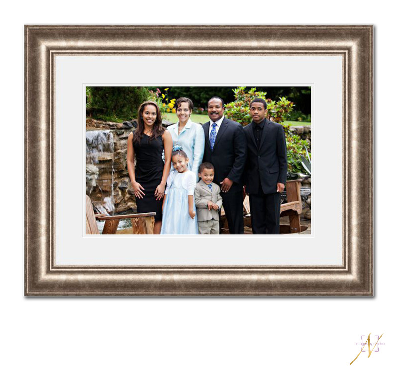 Custom framed family portrait