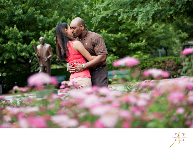 Centennial Olympic Park Engagement Photo