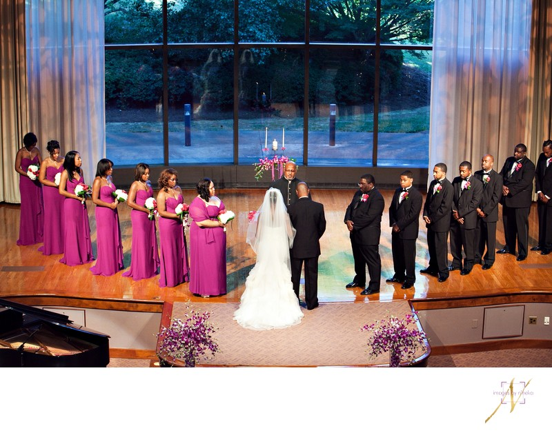 Bridal Party during Carter center wedding