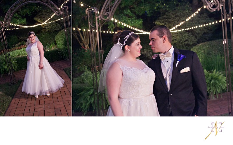 Bride and Groom at Little Gardens