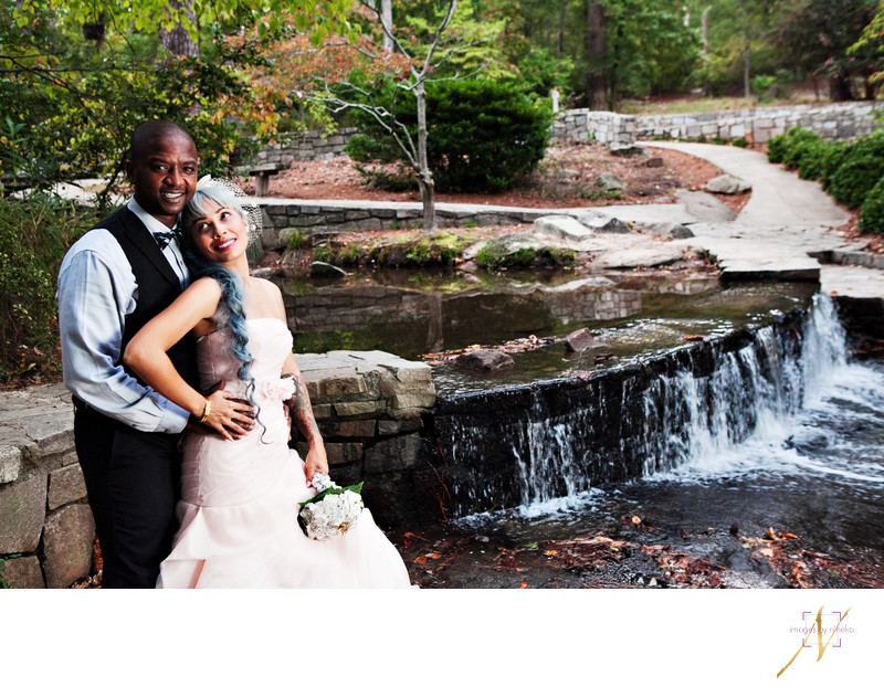 Wedding portrait at Stone Mountain Grist Mill