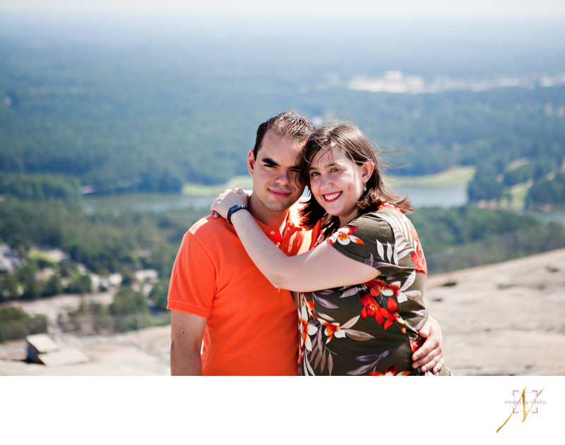 Portraits on top of Stone Mountain
