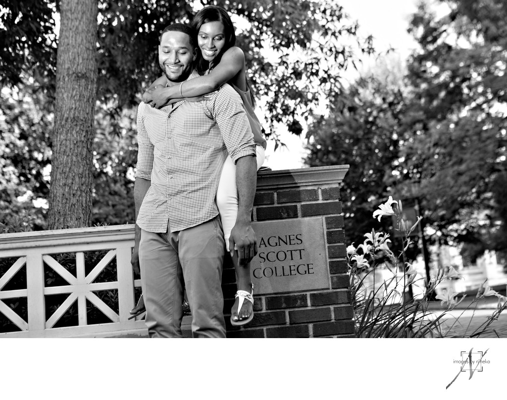 Agnes Scott College Decatur engagement photos
