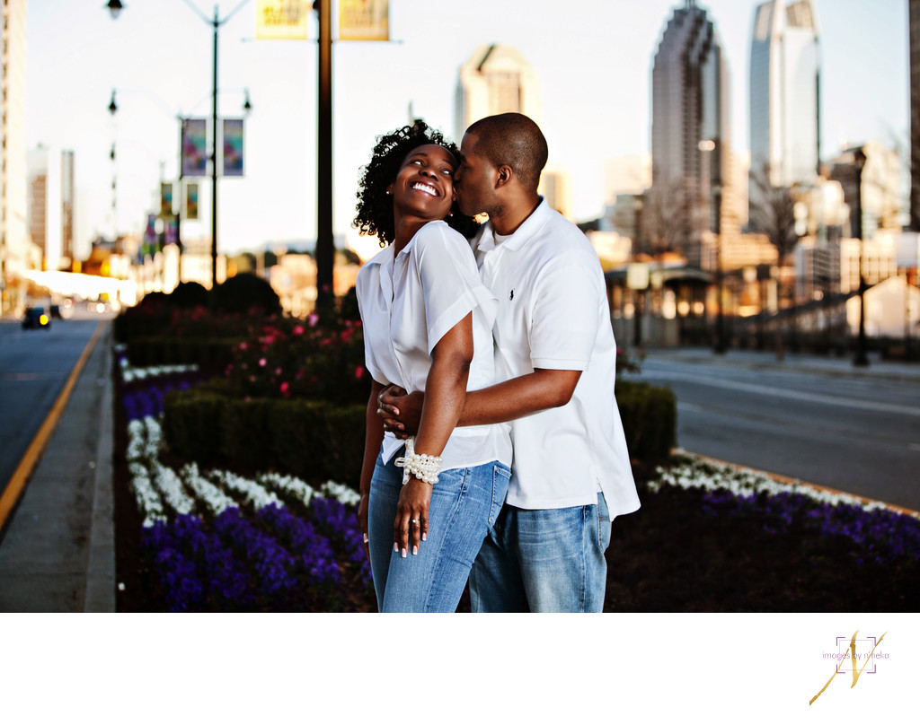 Atlantic Station engagement session