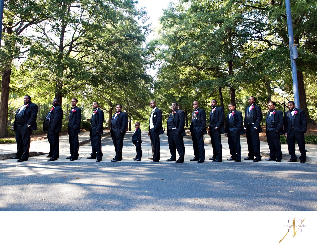 Groomsmen at the Carter Center