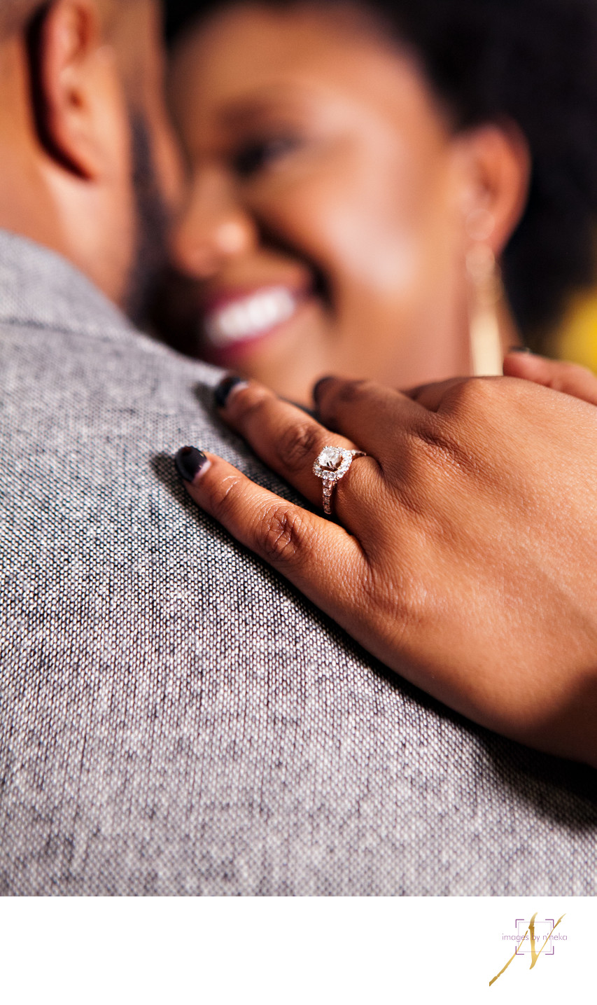 Engagement ring portrait