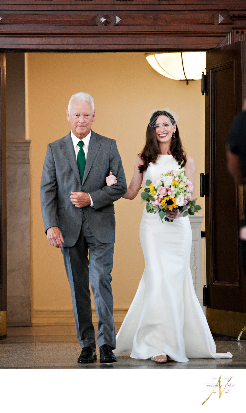 dekalb historic courthouse wedding bride