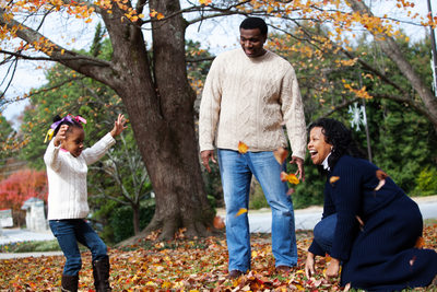 Stone Mountain Park Fall Family portraits