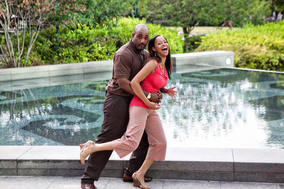 Centennial Olympic Park Engagement photos