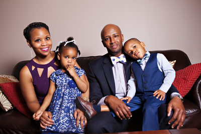 Family portraits before retouching