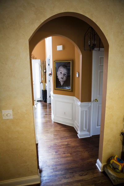 Framed Portrait in Foyer