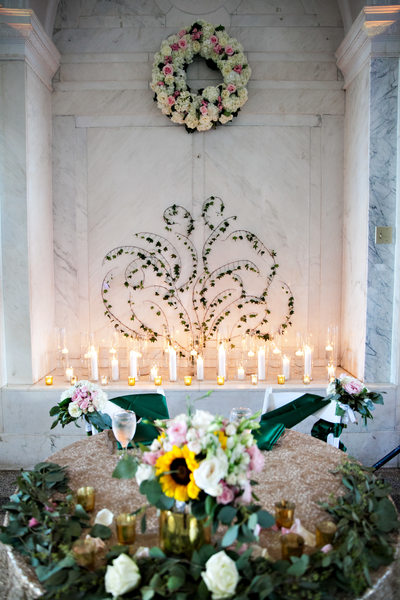 dekalb historic courthouse wedding decor