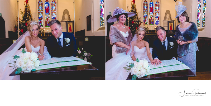 Signing Register Derbyshire Wedding Photographer