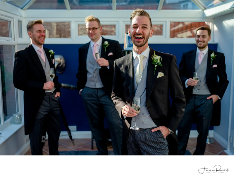 Groomsmen and Groom Derbyshire Wedding Photographer