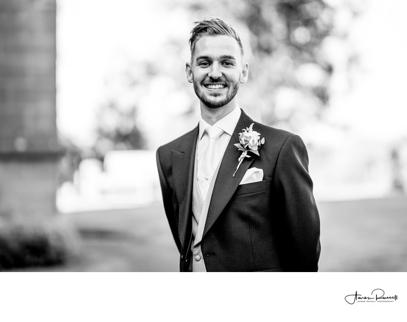 Grooms Portrait Derbyshire Wedding Photographers