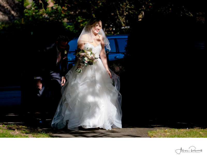 Bride Arrival Worcestershire Wedding Photographer