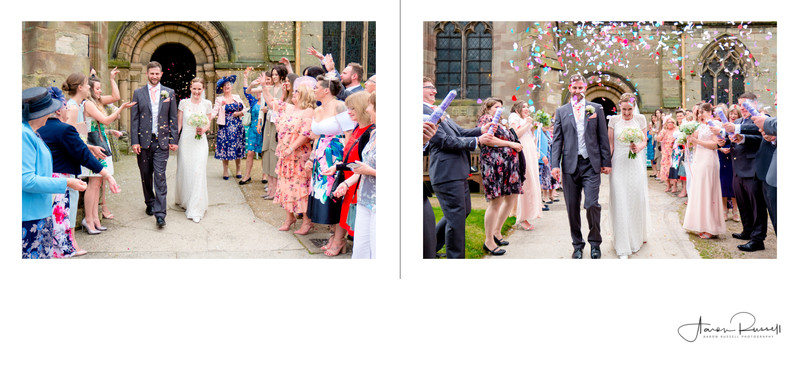 Wedding Confetti Photographers Derbyshire