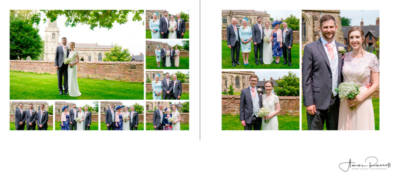Staffordshire Church Wedding Album Spread