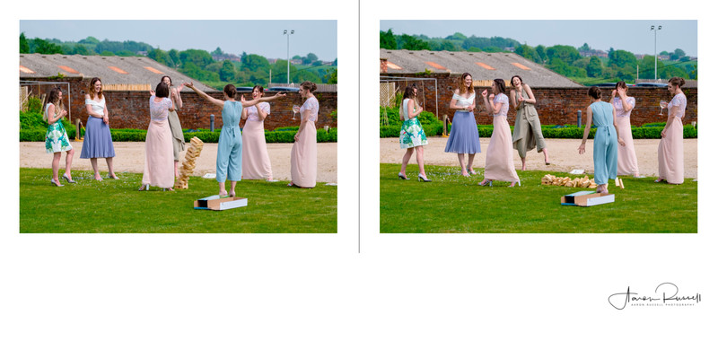 Outdoor Wedding Games Derbyshire Photographer