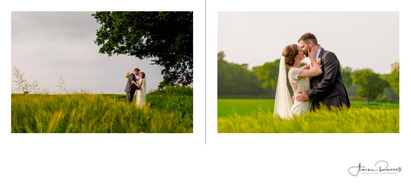 Derby Wedding Photographers Album Spread Kedleston Hall