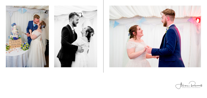 First Dance Wedding Album Spread Derbyshire Weddings
