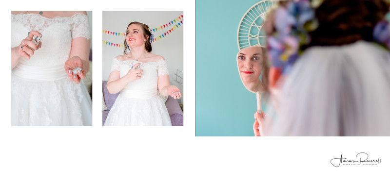Wedding Photographers Leicestershire Bridal Prep Album Spread