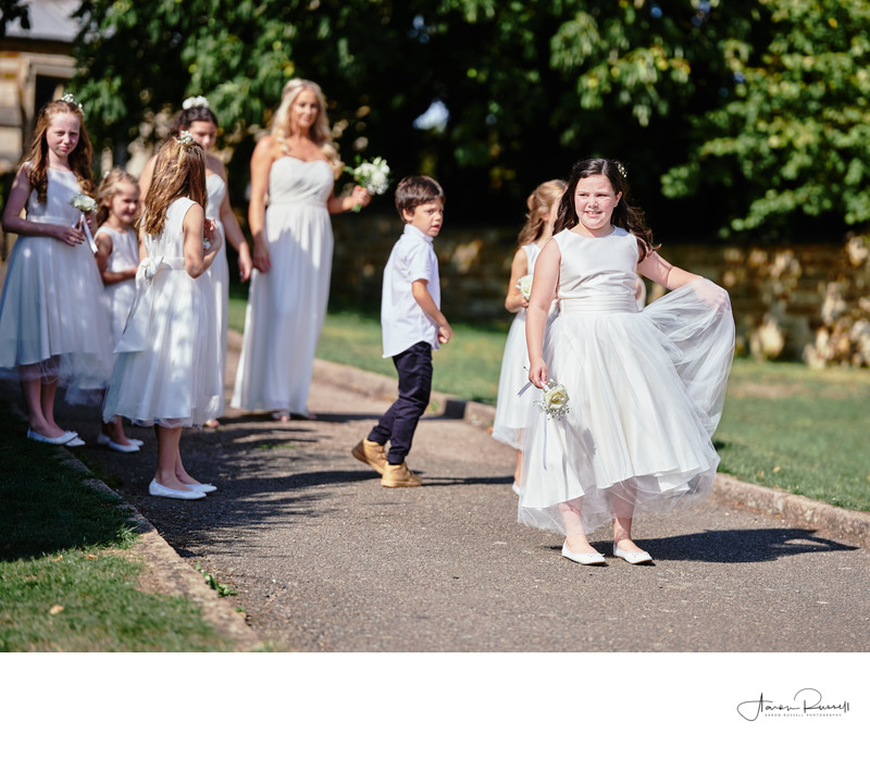 Flower girls Derbyshire Wedding Photographers