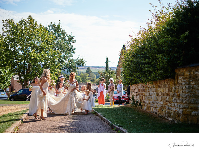 Bride and Bridesmaids Derbyshire Wedding Photographers