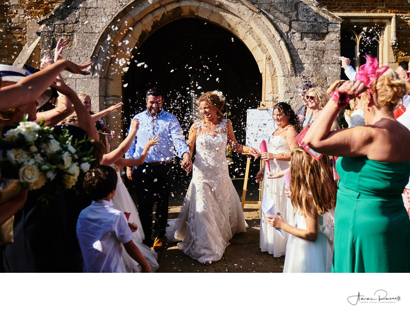 Church Confetti Derbyshire Wedding Photographers