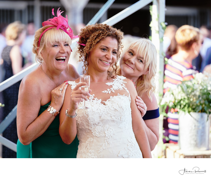 Bride and Guests Wedding Photographers Derbyshire