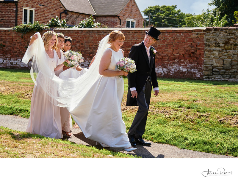 Bride Arrival Wedding Photography Leicestershire