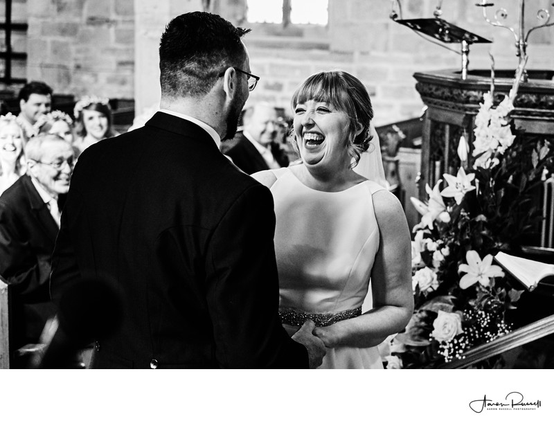 Church Wedding Ceremony Photography Derbyshire