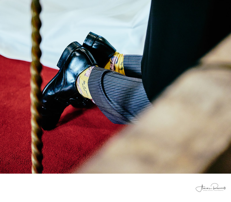 Groom Novelty Socks Wedding Photography Derbyshire
