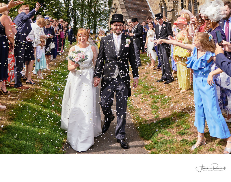 Derbyshire Wedding Photographer Confetti Photo